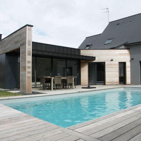 extension en bois maison locaux montgermont agencement chr acign. Black Bedroom Furniture Sets. Home Design Ideas